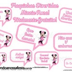 Plaquinhas Divertidas para Fotos da Minnie Rosa!