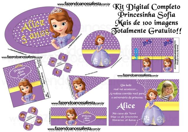 kit completo digital princesa sofia disney