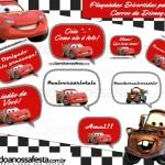 Plaquinhas Divertidas para Fotos Carros da Disney!