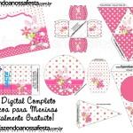 Páscoa para Meninas – Kit Completo Digital com molduras para convites, rótulos para guloseimas, lembrancinhas e imagens!