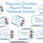 Plaquinhas Divertidas para Fotos do Pequeno Príncipe Moreno!