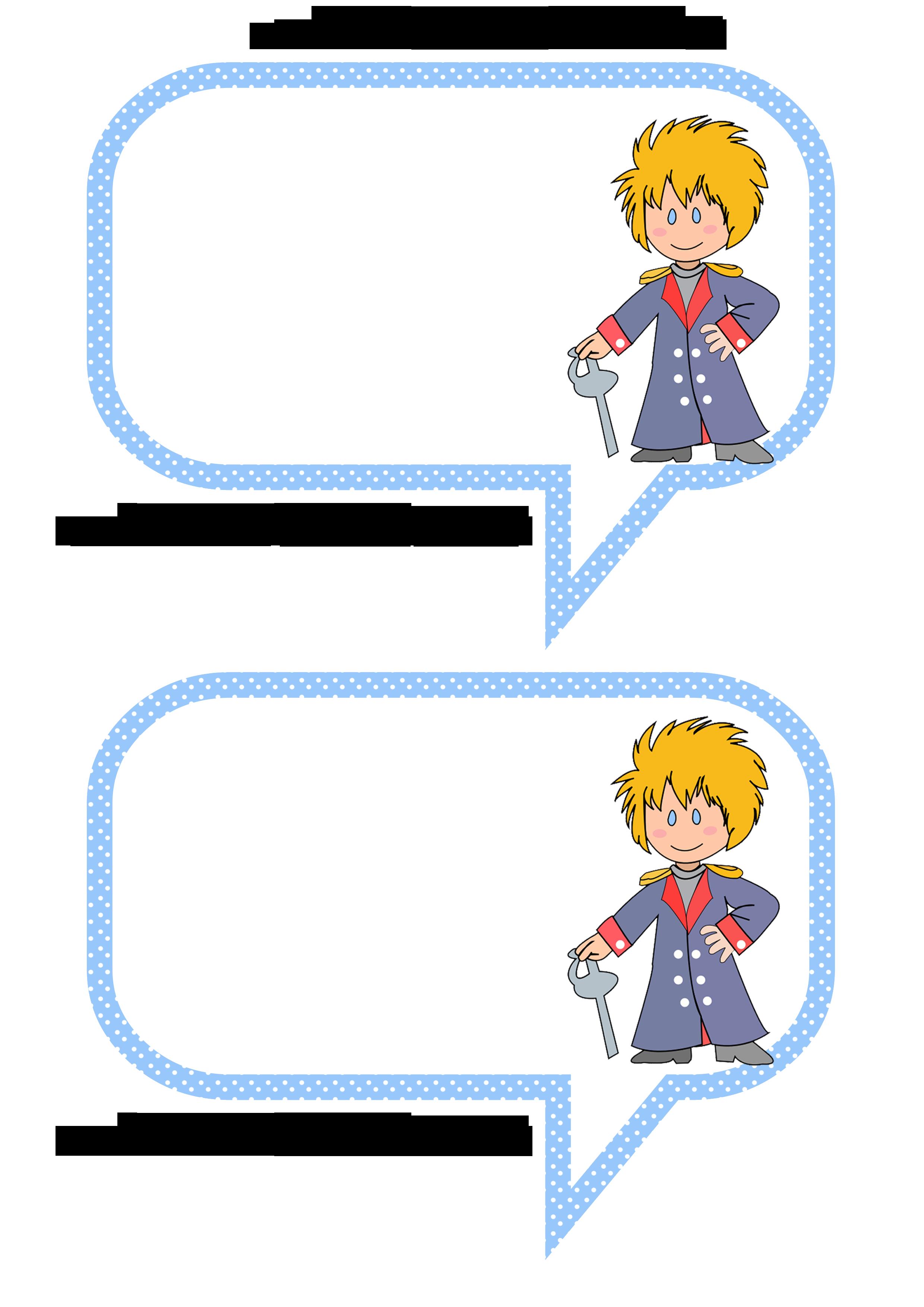 Plaquinhas Divertidas para Fotos do Pequeno Príncipe: