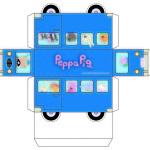 Ônibus Peppa Pig para Imprimir Folha A3:
