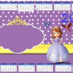 Convite Calendário Princesa Sofia da Disney: