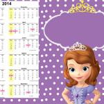 Convite Calendário 2014 Princesa Sofia da Disney: