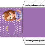 Envelope CD DVD Princesa  Sofia da Disney: