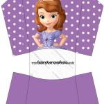 Envelope Fritas Princesa  Sofia da Disney: