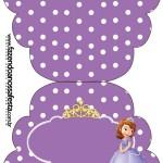 Convite Cupcake Princesinha Sofia da Disney: