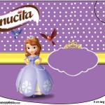 Rótulo Creminho NucitaPrincesa  Sofia da Disney:
