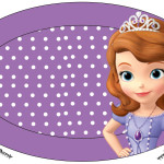 Placa Princesa Sofia da Disney: