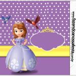 Rótulo Rolinho de Papel Higiênico Princesinha Sofia da Disney: