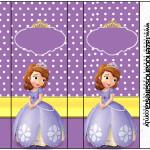 Rótulo Pirulito Mastigável Princesa Sofia da Disney:
