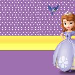Moldura Convite  Cartão Princesa Sofia da Disney: