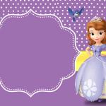 Moldura Convite e CartãoPrincesa Sofia da Disney: