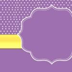 Poá Roxo  – Kit Completo Digital com molduras para convites, rótulos para guloseimas, lembrancinhas e imagens!