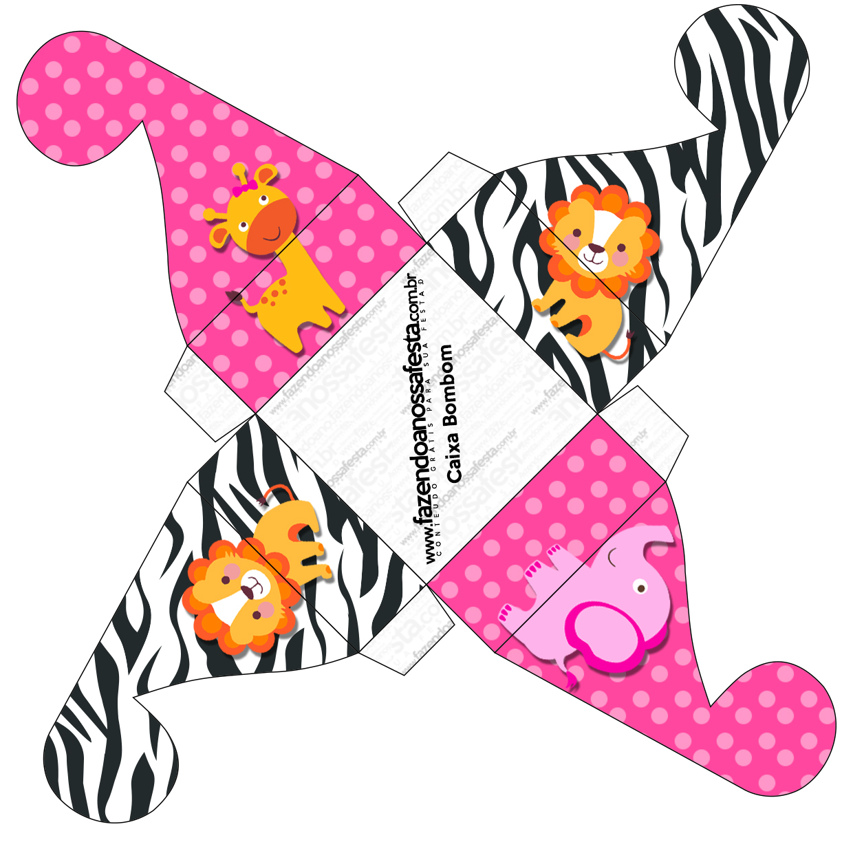 Caixa Bom BOm  Safari para Meninas: