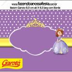 Rótulo Batom Princesinha Sofia da Disney: