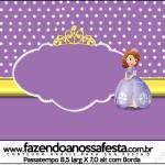 Rótulo Passatempo Princesa Sofia da Disney: