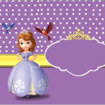 Rótulo Bolinha de Sabão Princesa Sofia da Disney: