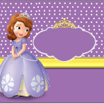 Rótulo Lata de Leite Princesa Sofia da Disney: