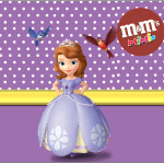 Rótulo Mini M&M Princesa Sofia da Disney: