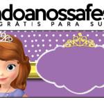 Rótulo Pote Papinha Princesa Sofia da Disney: