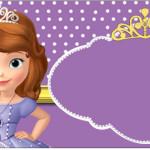 Rótulo Copinho de Brigadeiro Princesa Sofia da Disney: