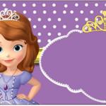 Rótulo Água Princesa Sofia da Disney: