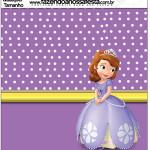 Molde Quadrado Princesinha Sofia da Disney: