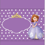 Rótulo Pé de Moleque Princesinha Sofia da Disney: