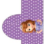 Rótulo Pipoca Princesinha Sofia da Disney: