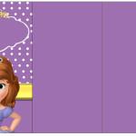 Convite, Cardápio ou Cronograma em Z Princesa Sofia da Disney: