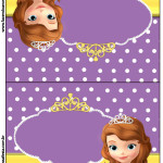 Convite Pirulito Princesa Sofia da Disney: