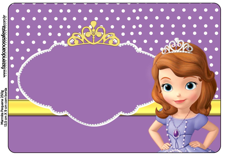 Princesita Sofia Decoraciones Imprimibles Para Fiestas