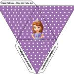 Caixa Pirâmide Princesa Sofia da Disney: