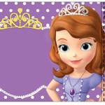 Convite Ingresso Princesa Sofia da Disney: