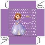Convite Caixa Tampa Princesinha Sofia da Disney: