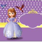 Caixa Bombom Princesa Sofia da Disney: