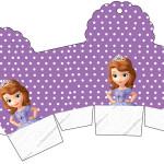 Caixa Cupcake Princesa Sofia da Disney: