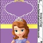 Rótulo Bisnaga Brigadeiro Princesa Sofia da Disney: