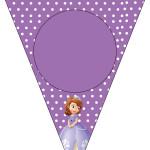 Bandeirinha Varalzinho Princesa Sofia da Disney: