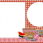 Picnic – Kit Completo com molduras para convites, rótulos para guloseimas, lembrancinhas e imagens!