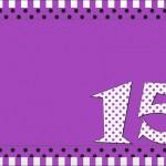 15 Anos Roxo e Prata – Kit Completo com molduras para convites, rótulos para guloseimas, lembrancinhas e imagens!