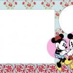 Mickey e Minnie Romântico Vintage – Kit Completo com molduras para convites, rótulos para guloseimas, lembrancinhas e imagens!