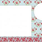 Flores em Azul e Vermelho – Kit Completo com molduras para convites, rótulos para guloseimas, lembrancinhas e imagens!