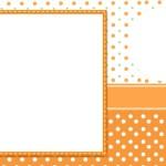 Poá Laranja e Verde –  Kit Completo Digital com molduras para convites, rótulos para guloseimas, lembrancinhas e imagens!