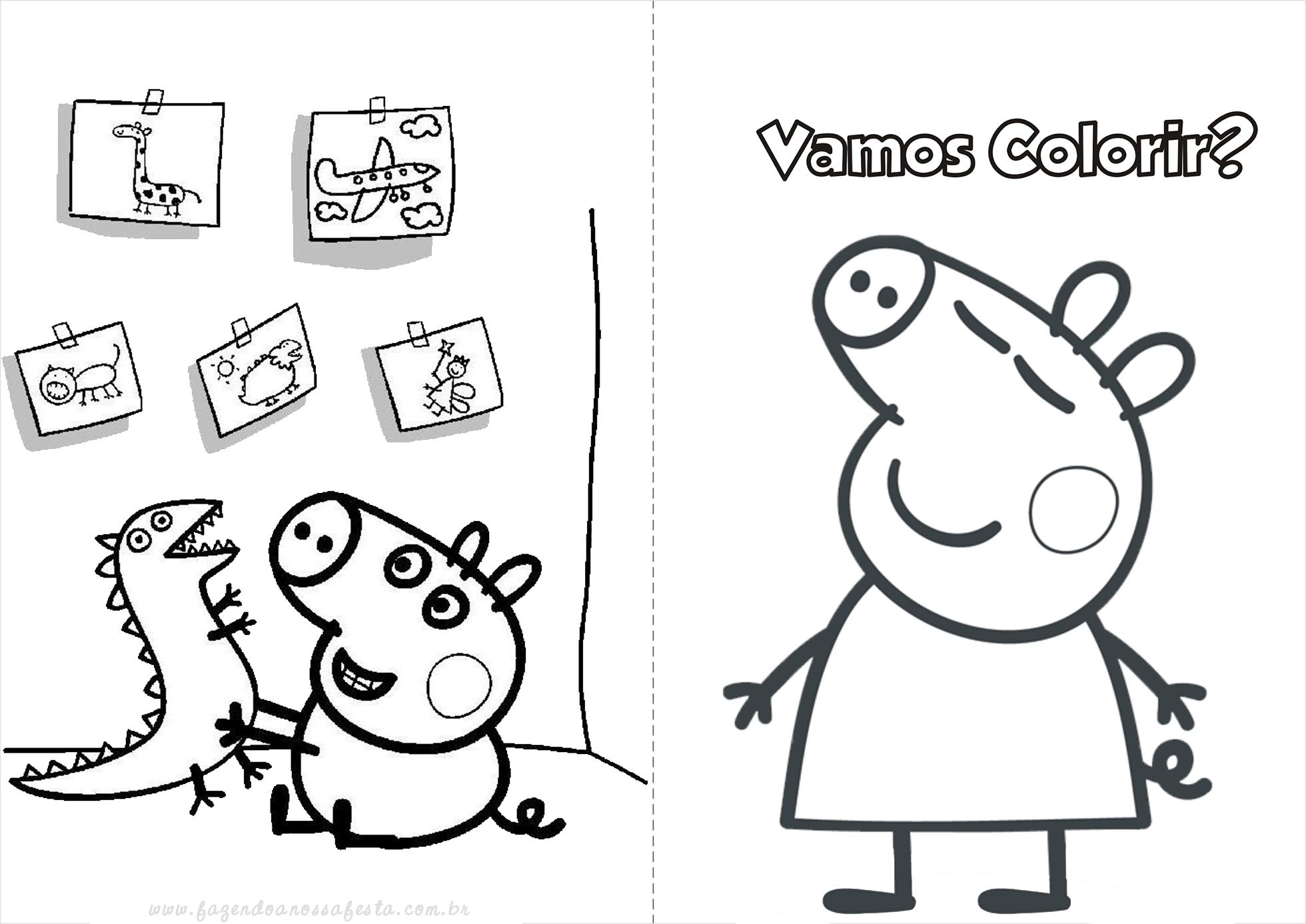 Preferência Peppa Pig - Livrinho para Colorir! ZD13