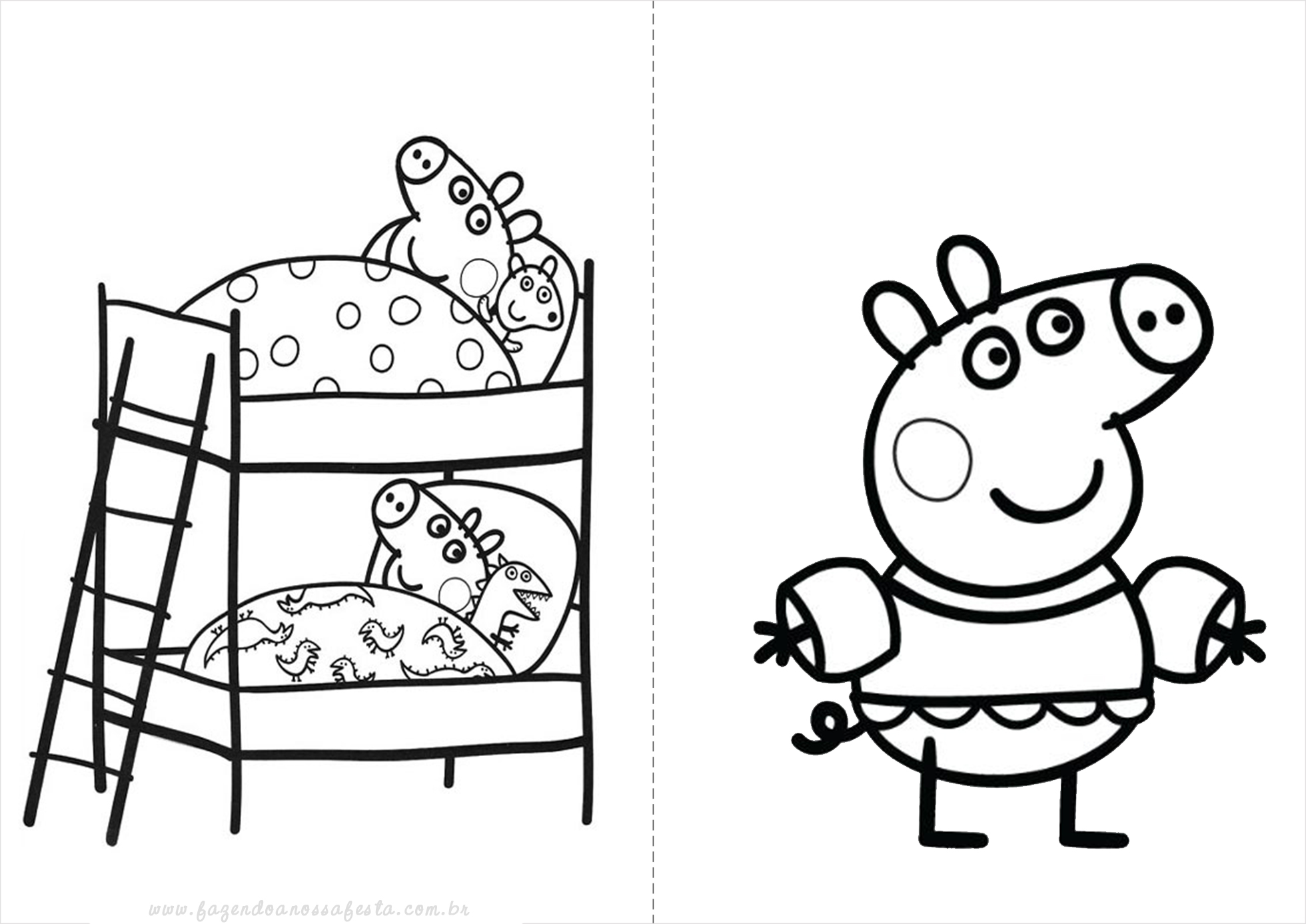 Peppa Pig George Playing With Ball BEST Funny Coloring Book Learning colors
