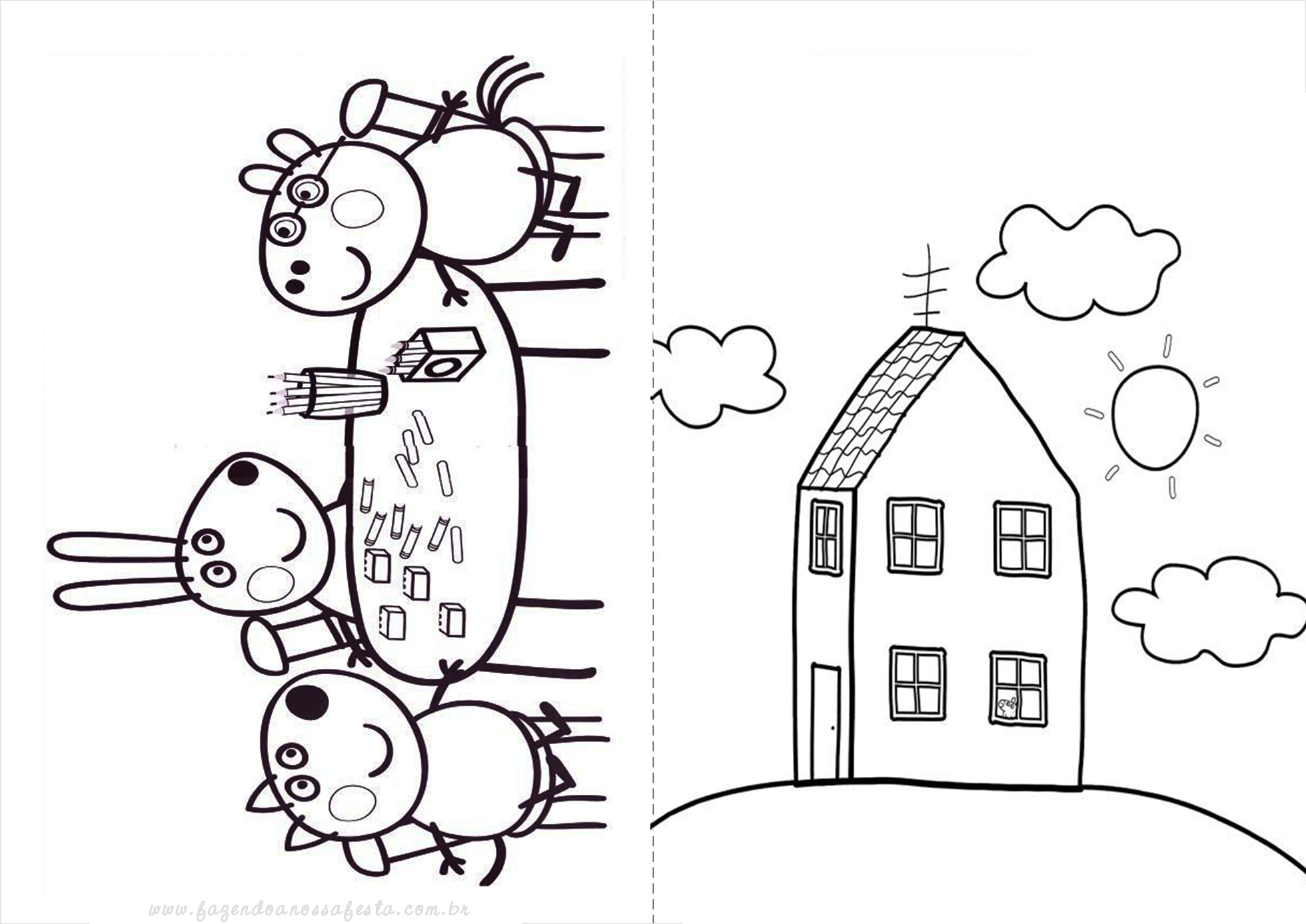 ... desenho-peppa-pig-3_ original Desenhos do Peppa Pig para colorir pintar  imprimir