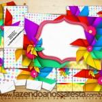 Catavento  – Kit Completo Digital com molduras para convites, rótulos para guloseimas, lembrancinhas e imagens!